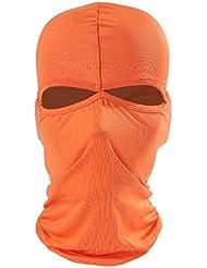 ecyc al aire libre Motocicleta Ciclismo Esquí Cuello Protección transpirable Lycra Balaclava Full Face máscara, mujer hombre, A08:Orange