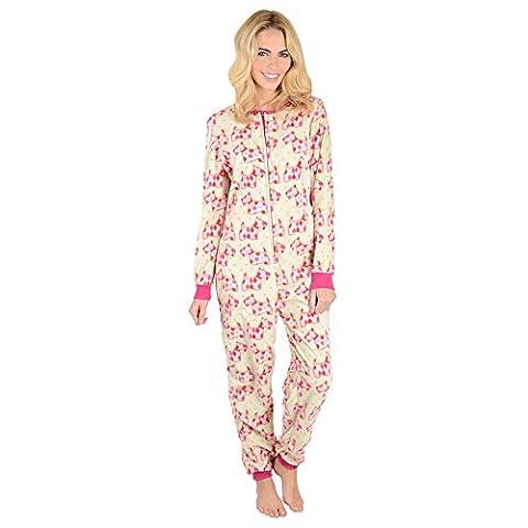 Scotty Hunde Damen Fleece Einteiler Pyjama Schlafanzug Onesie PJ Nachtwäsche - XL (Pyjama Overall)