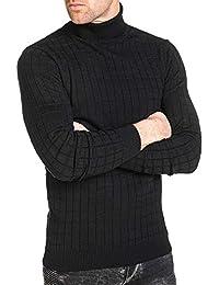 BLZ jeans - Pullover homme col roulé noir