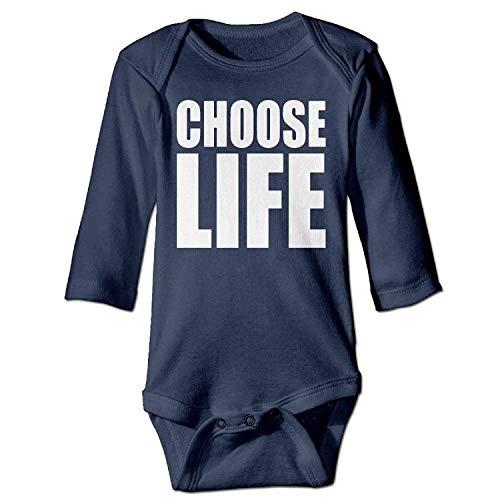 MSGDF Unisex Infant Bodysuits Choose Life Boys Babysuit Long Sleeve Jumpsuit Sunsuit Outfit Navy Old Navy Floral Romper