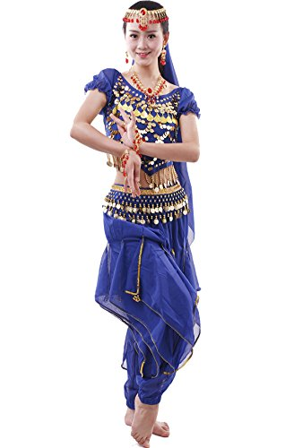 Damen Bauchtanz-Komplet Tanzkostüme Indische Kostüm Zubehör