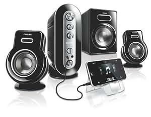 Philips SPA 9350 2.1 Multimedia Lautsprechersystem (100 Watt PMPO)