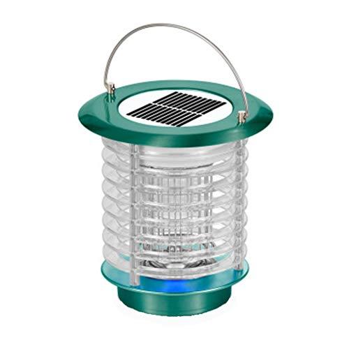 Andouy Tragbare Solarenergie Moskito Lampe Haushalt-Mückenschutz USB LED-Licht Mückenfalle(18×18×18cm.Grün-2)
