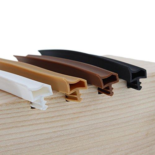 Deventer Zimmertürdichtung PVC ohne Lippe auf Maß transparent
