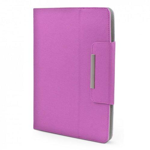 ROYALZ Hülle für Medion LifeTab X10607 (MD 60658) Tasche (10.1 Zoll) Schutz Case Cover Schutzhülle Schutztasche mit Aufsteller in hochwertiger Leder-Optik, Farbe:Lila