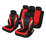 Cosmos 1 Car Seat Covers, Red and Black