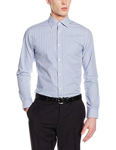 SELECTED HOMME Herren Langarmshirt Shdtwotim-Luca St Shirt LS NOOS Blau (light Blue Stripes:white)