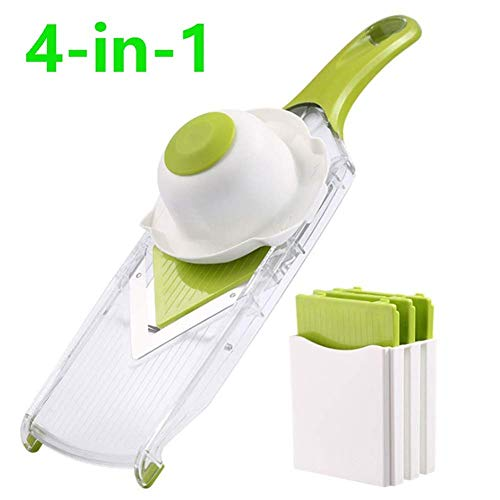 WYBD.Y Cocina 4 en 1 Mandoline Slicer Cutter Chopper and Rallador Vegetable Dicer Cebolla Dicer Potato...