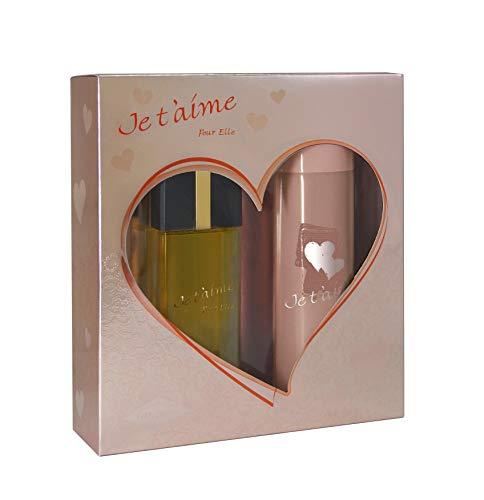 JE T'AIME Coffret Eau de Parfum + Déodorant pour...