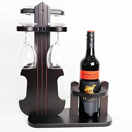 TUORUI Wine Rack, Weinglashalter, Weinregal Stehtisch Top Weinregal Dekoration Einfache Montage 1...