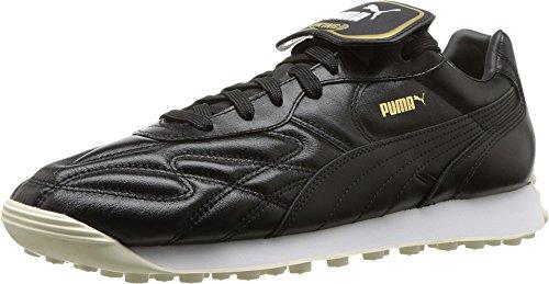 PUMA Men's King Avanti Premium Puma Black/Puma White/Whisper White/Puma Team Gold 1 12 D US D (M) -