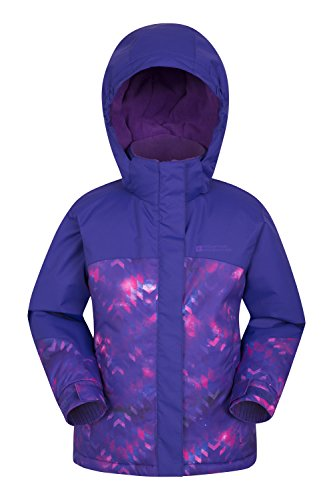 Mountain Warehouse Flurry Bedruckte Kinder-Skijacke Violett 164 (13 Jahre) Mädchen Ski-snowboard-jacke