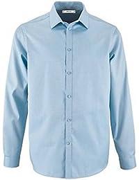 4d42a491959 SOLS - Camisa de espiguilla y Manga Larga Modelo Brody para Hombre