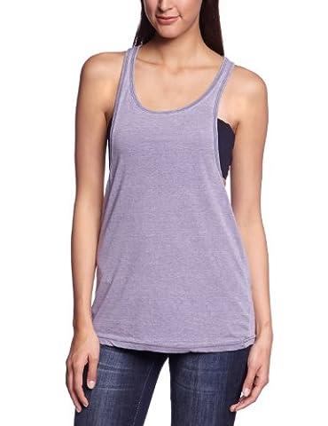 Urban Classics Women's Ladies Loose Burnout Tanktop Sports T-Shirt - blue - Large