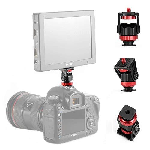 fotowelt Mini-Blitzschuh-Adapter Video Monitor Halterung für Kamera, Camcorder, Smartphone, Gopro, LED-Videolicht, Mikrofon, Video-Monitor