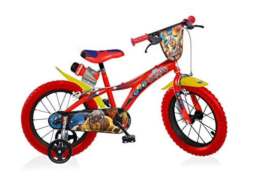 Gormiti Boy Bike 14 Inch Brakes on Handlebar Removable Trainingwheels Red