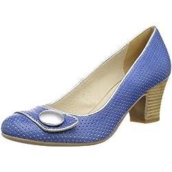 Virus 25377 Damen Pumps, Blau (Garda Blue/Charme 0810), 39 EU