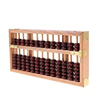 Bonarty Vintage Style Wooden Abacus - Professional 13 Column Chinese Soroban Calculator, Counting Tools for Kids and Adult - Wood, 24.6x12.2cm