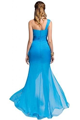 Sunvary Tulle a colonna da Cocktail per feste con perline in cristallo Royal Blue