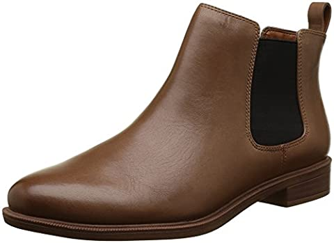 Clarks Women's Taylor Shine Chelsea Boots, Brown (Tan Leather), 4 UK