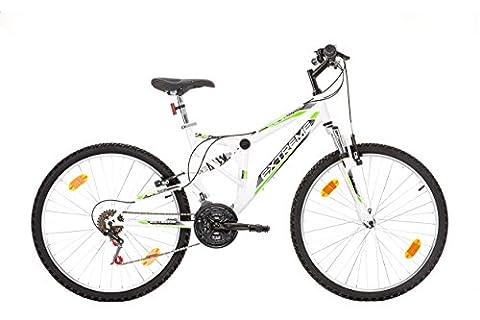 26 inches, CoollooK, EXTREME, Unisex, Mountain Bike, Full Suspension Frame, 18 speeds, Tires MACH1,