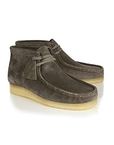 Mens Clarks Originals Men's Wallabee Boots - Grey Suede - Size : 7