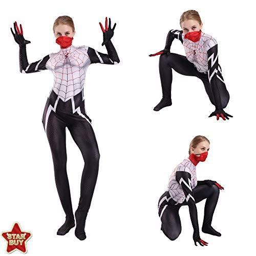 HEROMEN Spiderman Gwen Rot Schwarz Spinne Anime Kostüm Lycra Siamese Cosplay 3D Prin Strumpfhosen Weihnachten Halloween Kostüm Für - Spider Mann Professionelle Kostüm