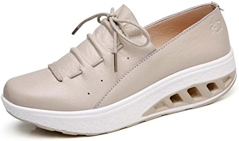 Zapatos atléticos Casuales de Las Mujeres Zapatos agitados Gruesos levantados Moda Zapatos oscuras Salvajes del...