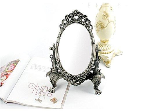 Xiuxiandianju Europea - Retro Style Specchio make - up Specchio desktop singolo - Specchio Bedroom (Camera Ovale Dresser)