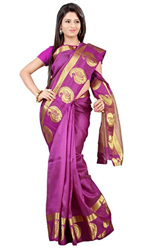 Mimosa Tassar Silk Saree Mejantha Colour(3123-2061-TUSS-MEJAN)  available at amazon for Rs.1099