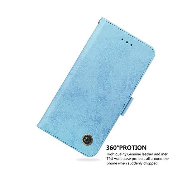 SEYCPHE Funda Samsung Galaxy A10 Carcasa Libro de Cuero Ultra Delgado Billetera Cartera [Ranuras de Tarjeta,Soporte… 5