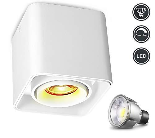 Lámpara de techo LED-Regulable,Foco LED para techo puede girar 30 °, 7W...