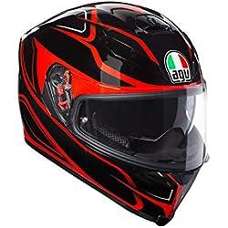 AGV Casco Moto integral K-5S E2205Multi plk Magnitude, Negro/Rojo, talla MS
