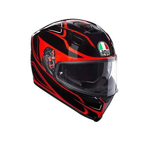 AGV Casco Moto Integral K-5S AGV E2205Multi plk Magnitude, Negro/Rojo, Talla L