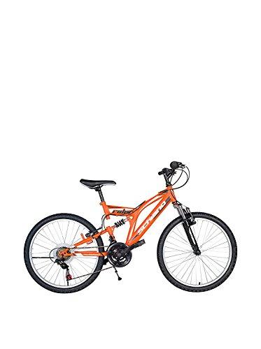 """F.lli Schiano Rider Power 18V Bicicletta Biammortizzata, Arancio/Bianco, 26"""""""