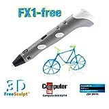 FreeSculpt 3D Druckstift: 3D-Pen Drucker-Stift für Freihand-3D-Zeichnungen FX1-free (3D Kugelschreiber)