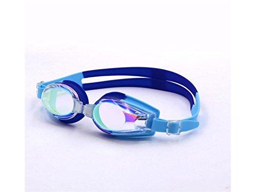 ATTOUPAN Fashionable bambini occhialini da nuoto antinebbia protezione UV obiettivo rivestito nessuna fuoriuscita di acqua (blu)