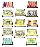 #2: Farraige Latest 13-in-1 Magnetic Games for Family, Chess, Backgammon, Ludo, Tic-Tac-Toe, Snakes & Ladders,Checkers, 9 Men's Morris, Travel Bingo, Football, Space venture, Train chess, Racing Game, Steeplechase
