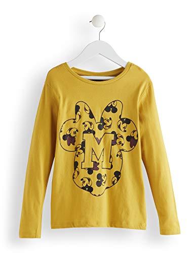 Red wagon minnie mouse long sleeveyellow tee maglia a maniche lunghe bambina, giallo (nugget gold), 104 (taglia produttore: 4)