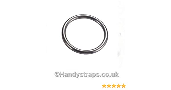 Mooring Rings Round Ring 10 x 8mm x 80mm Stainless Steel Marine Handy Straps