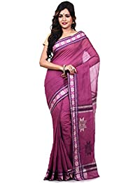 Bengal Handloom Saree Velvet Saree (Maroon)