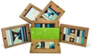 130 Piece Tegu Classroom Magnetic Wooden Block Set, Future,130P-FUT-608T