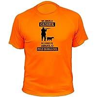Camiseta de caza, Abuelo Cazador - Ideas regalos (30200, Naranja, XXL)