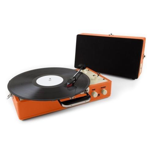 auna-nostalgy-buckingham -ohne Haube mit Schallplatte