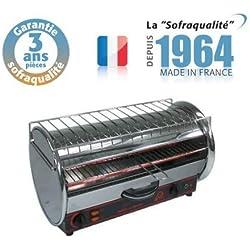 Toaster Professionnel multifonction avec régulateur - 490 x 235 mm utile - 230 V - Prestige 1 étage - Sofraca -