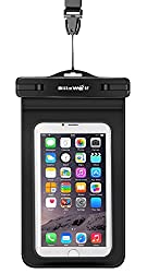 BlitzWolf Waterproof Case IPX8 Universal Touch Screen Dry Waterproof Bag with Clip for iPhone 7/7 Plus Samsung Galaxy S5/S4/S3 Dustproof Cellphone Dry Bag for Devices up to 6.0all Mobiles and Accessories, Currency
