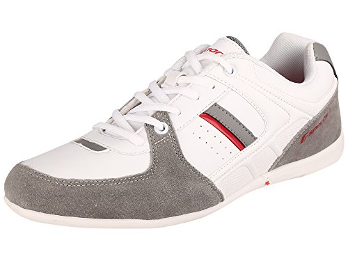 Fsports Mens White Red Synthetic Casual Shoes 8UK  available at amazon for Rs.634