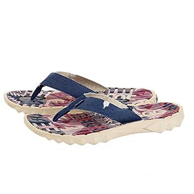Dude Shoes Sava Marine Canvas Flip Flop 42/3 2DEb5x