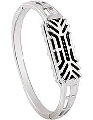 Regalo de Año Nuevo, Transer® Moda de acero inoxidable accesorio brazalete banda de reloj pulsera para Fitbit Flex 2 (Plata)