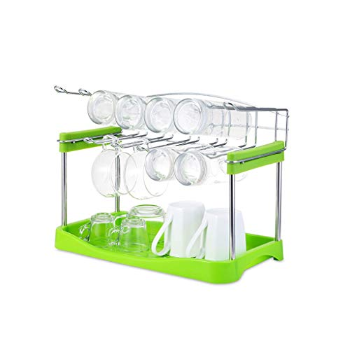 s Rotwein Tasse Tee Tasse Shelf Drain Cup Holder, Green Double Drain Cup Holder (Size : A) ()